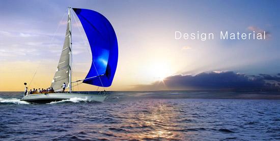 帆船简笔画卡通五年级乘风破浪