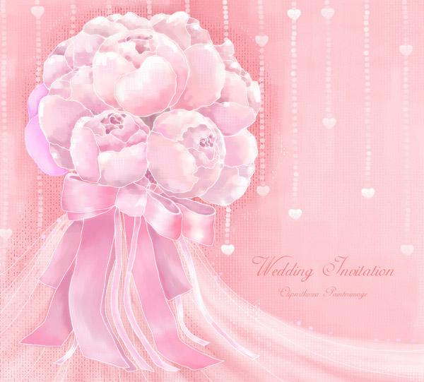 粉色手绘蝴蝶结