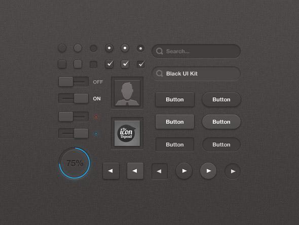 0 点 关键词: 黑色ui工具包psd下载,黑色ui,网页ui,圆形进度条,网页