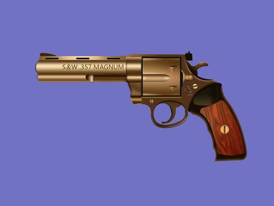 紫铜左轮手枪