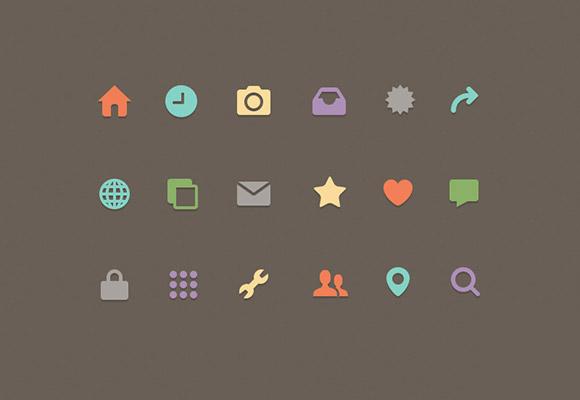 主页,首页,时钟,相机,工具,用户,定位,心,赞,信件,放大,icon,图标,psd图片