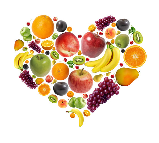 创意心形水果图片