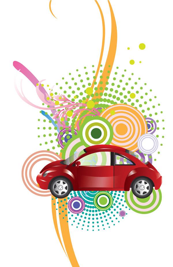 小汽车与装饰图案_花纹边框 - 素材中国_素材cnn