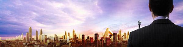 眺望城市psd分层素材,商务人士背影