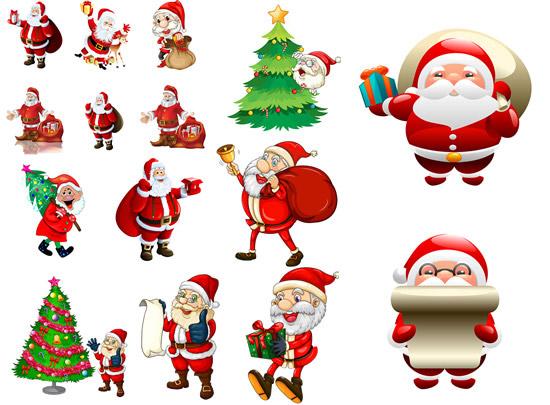 圣诞老人剪贴画 素材中国sccnn.com
