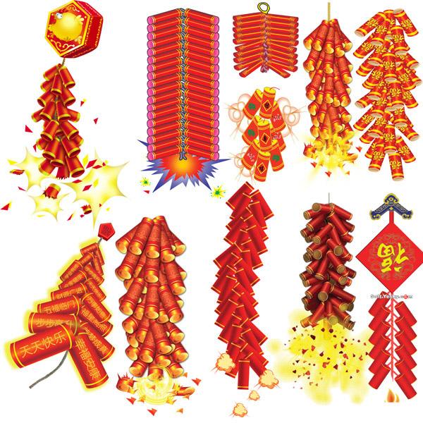 喜庆的鞭炮_春节 - 素材中国