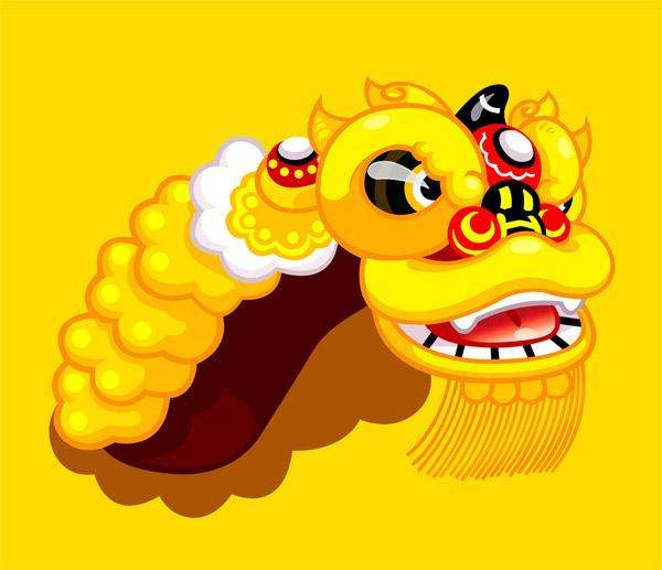 卡通舞狮,卡通,形象设计,舞狮,黄色狮子,卡通动漫形象设计素材可爱的