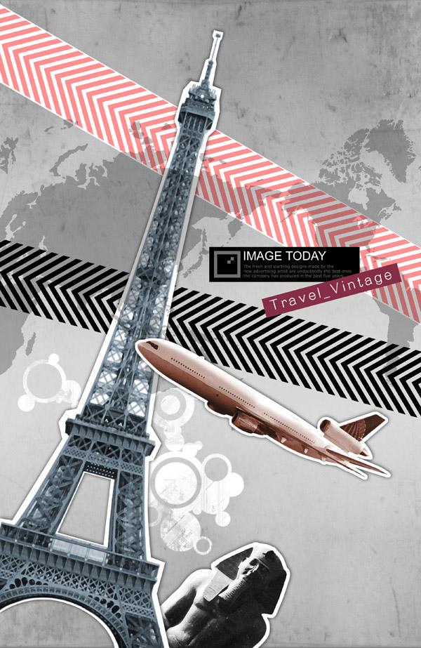 复古,旅游主题元素,飞机