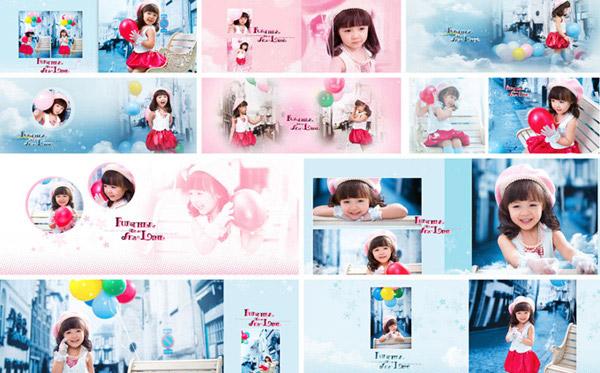 儿童写真,唯美模板,可爱宝贝,超萌,儿童相册,蓝色梦幻 下载文件特别