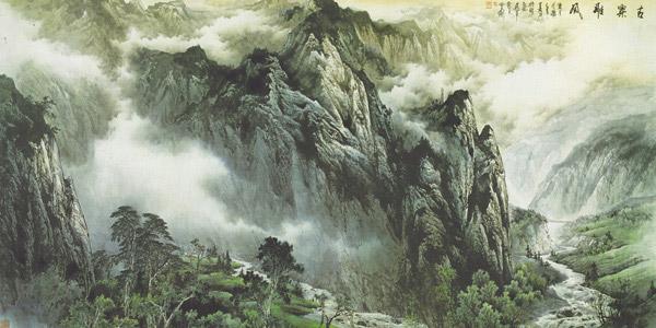 素材分类: 绘画艺术所需点数: 0 点 关键词: 群山风景画免费下载
