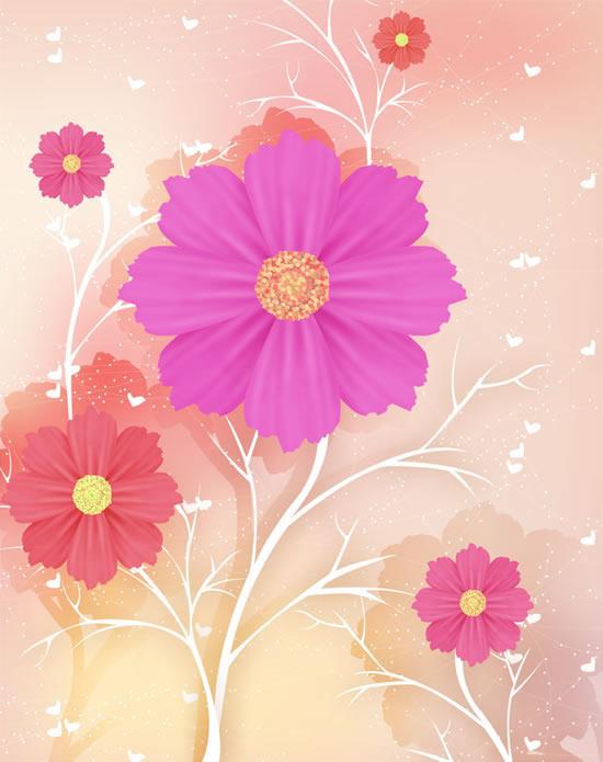 鲜花淡雅背景