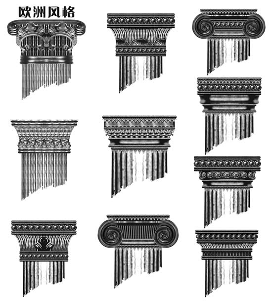 欧洲风格罗马柱图片