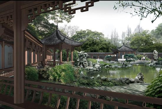 0 点 关键词: 古典园林建筑效果图psd,园林设计,古典长廊,假山设计