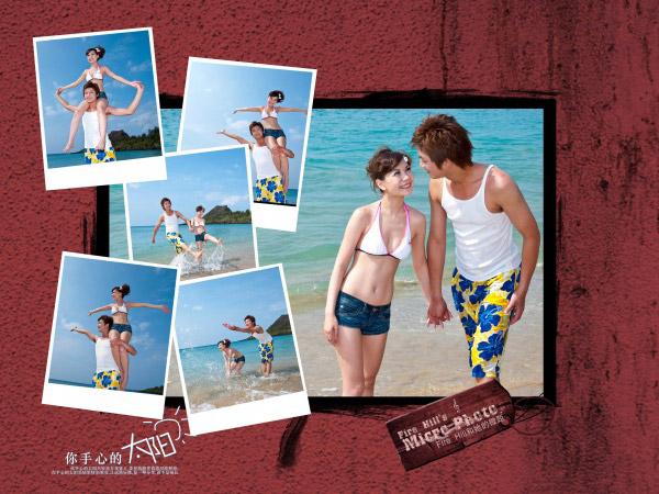 海边泳装摄影_写真相册模板