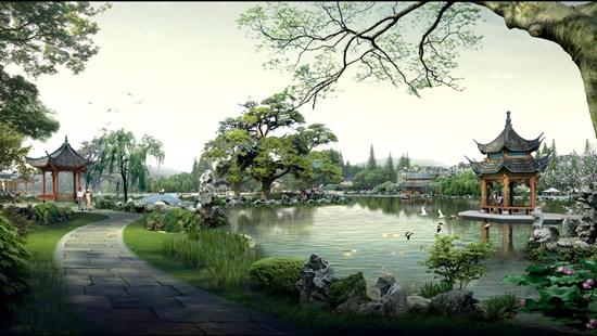 古典园林效果图