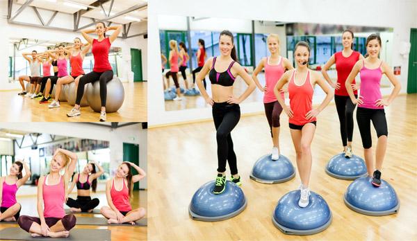 女生健身房锻炼步骤