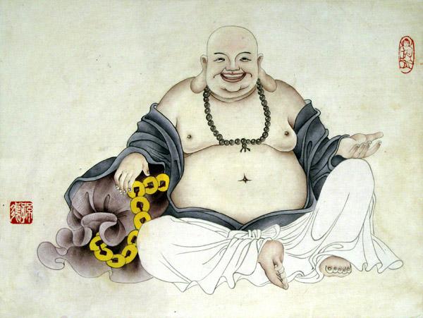 弥勒佛国画
