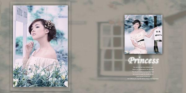 美式婚纱相模板5
