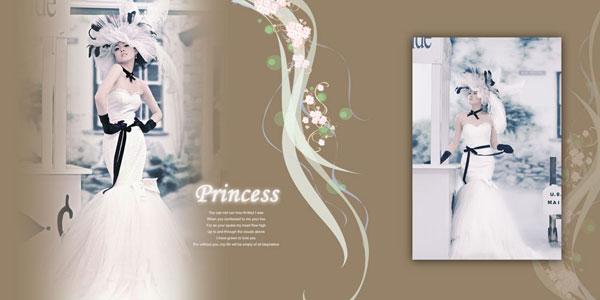 美式婚纱相模板7