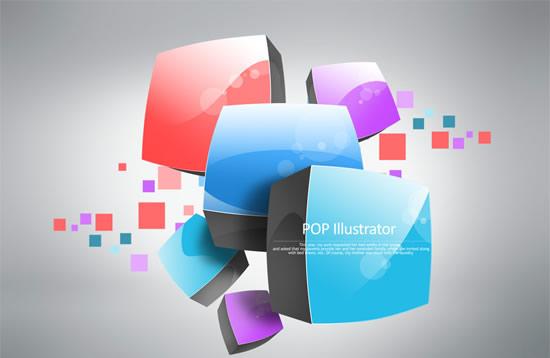 0 点 关键词: 立体彩色方块图案psd,设计元素,立体创意元素,图案