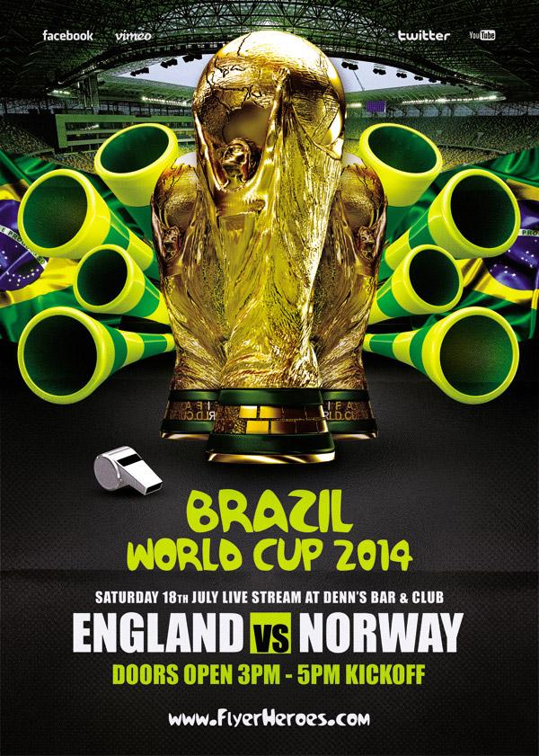 巴西世界杯海报图片