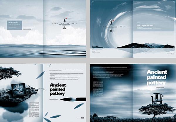 关键词: 水墨房产画册psd分层素材,中国风企业形象手册,水墨元素,东城图片