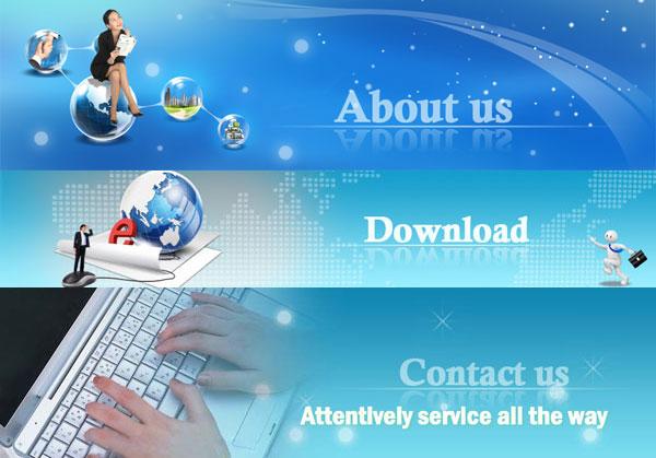 商务网站banner分层素材,商务合作,联系我们,精美网站banner,科技