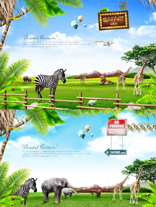 0 点 关键词: 野生动物集合psd分层素材,鹦鹉,霓虹灯,路牌,热气球,蓝
