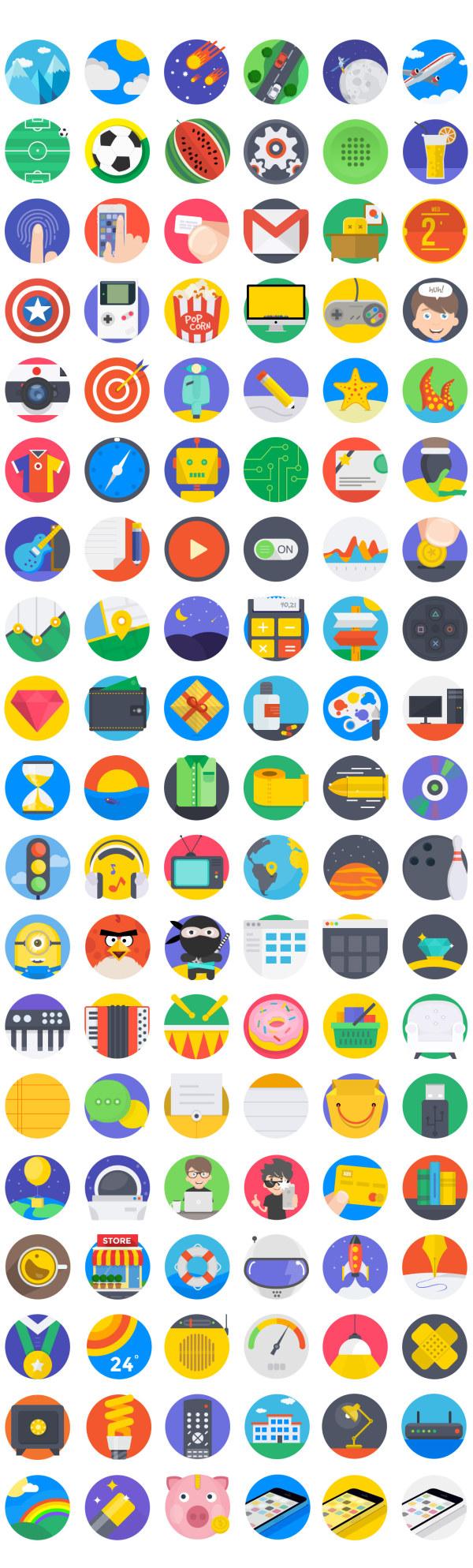 素材分类: 图标所需点数: 0 点 关键词: 扁平彩色icon,扁平icon,psd