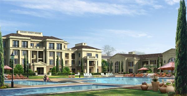 别墅与室外游泳池