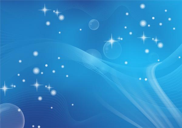 蓝色精美科技背景psd分层素材,星光闪烁,科技线条,好看的背景图片图片