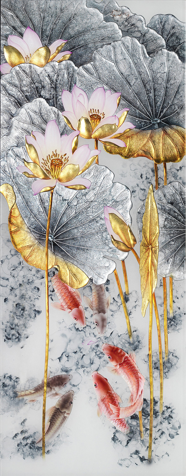 0 点 关键词: 莲花玻璃画免费下载,玻璃画,荷花,鲤鱼,连年有余,莲花