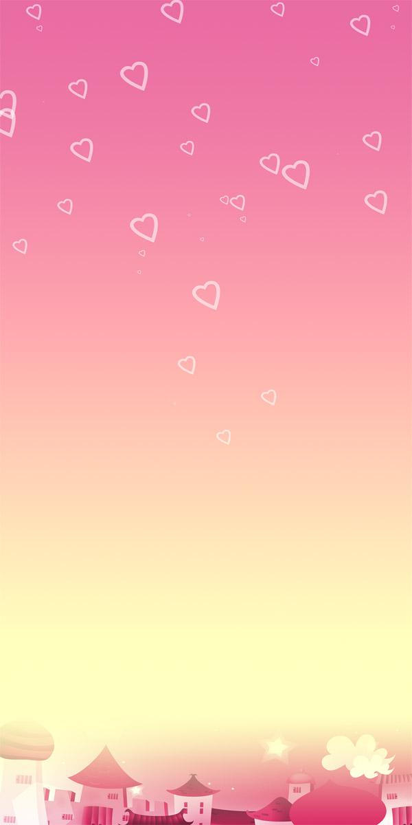 温馨-淡雅X展架背景图片