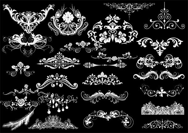 psd分层素材,,花纹,花边,欧式,古典,变色,高贵,藤蔓,时尚,潮流,花藤