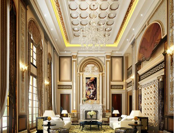 豪华欧式客厅模型