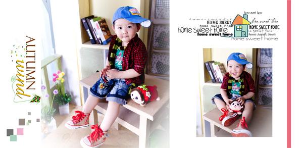时尚儿童相册模板_素材中国sccnn.com