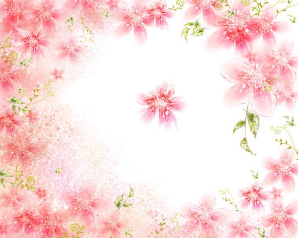 粉色水彩背景,清新背景图片
