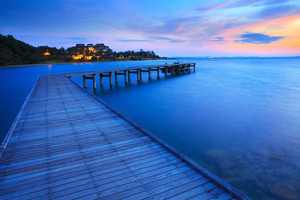 黄昏静谧海边风景高清图片下载,黄昏,静谧,海边风景,木栈桥,木桥