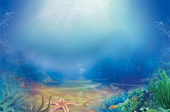 自然风景所需点数: 0 点 关键词: 唯美海底世界psd分层模板,海洋世界