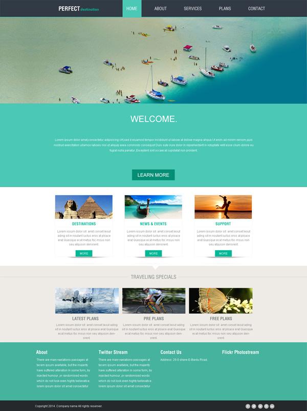 旅游网站模板_素材中国sccnn.com