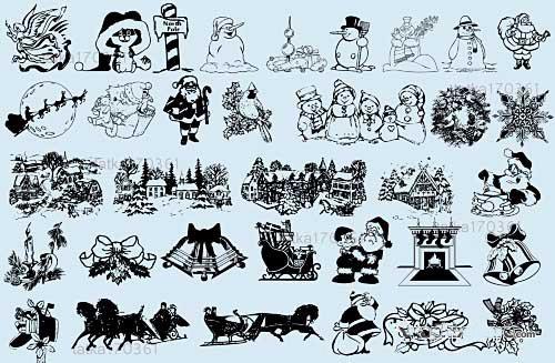 圣诞节图片字体