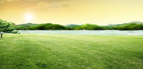 风景图片,草原,风景,唯美,辽阔,高清,大山,阳光,大树,湖水,清新,绿色