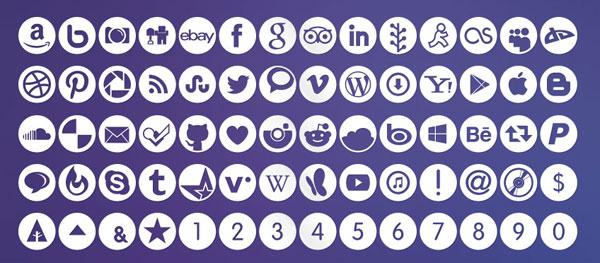 社交网络图标字体