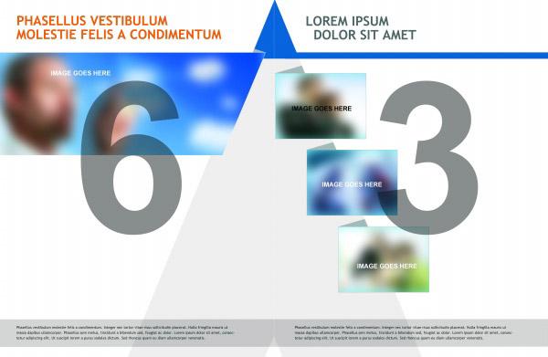 欧美英文商业版式画册psd分层模板