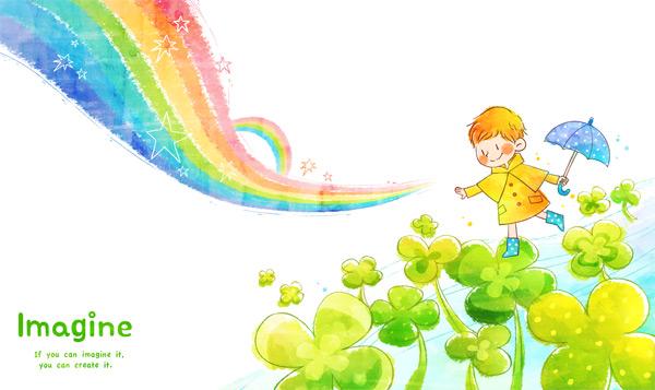 荷叶上的小男孩_素材中国sccnn.com