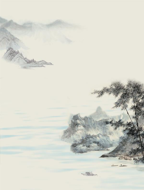 水墨风景画_素材中国sccnn.com