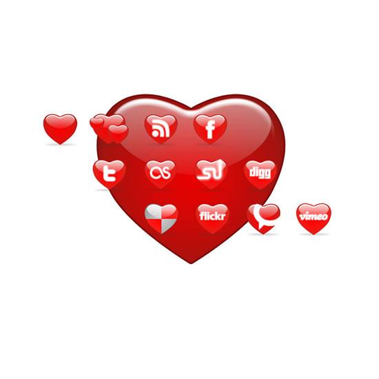 爱心按钮图标