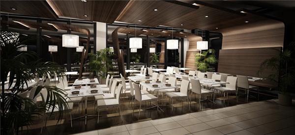 餐厅模型素材