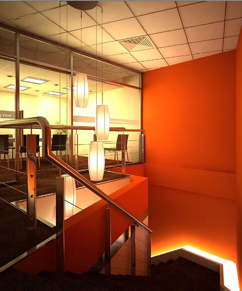 餐厅楼梯模型