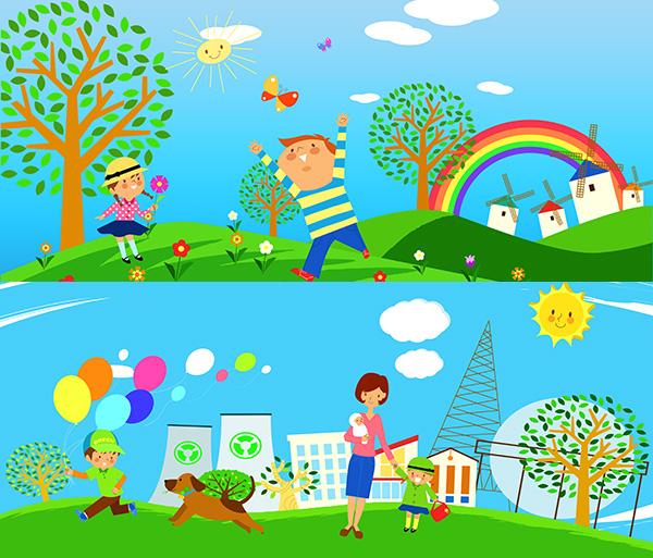 幼儿园墙画_素材中国sccnn.com